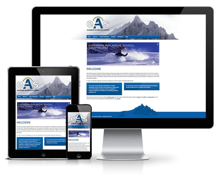 European Avalanche School Responsive Wordpress Website Design