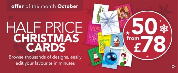 Half Price Christmas Cards