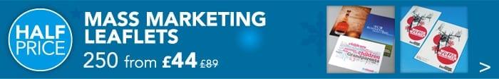 Half Price Mass Marketing Leaflets