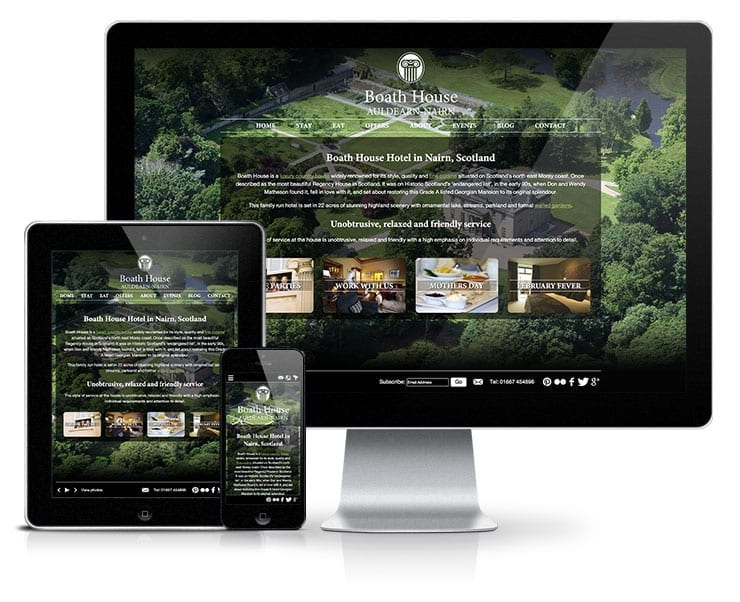 Boath House Hotel Responsive Wordpress Website